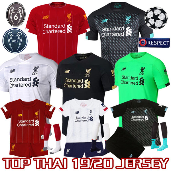 san francisco c392b 6f258 19 20 liverpool kid kit men hirt lfc 4xl 100 thailand quality occer jer ey  alah firmino virgil mane a becker home away third