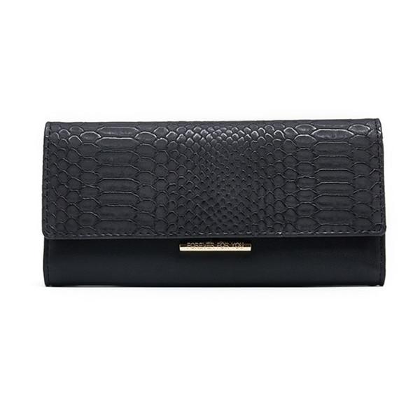 2019 Fashion Women Long Leather Purse Phone Card Holder Clutch Wallet Zipper Cash Receipt Cellphone Bag