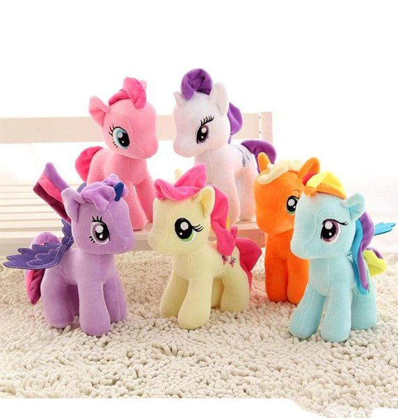 DHL gratuit Nouvelle Licorne Peluche 20cm Peluche Mon Jouet Édition Collection Peluche Envoyer Poneys Spike jouets Comme Cadeaux Pour Enfants