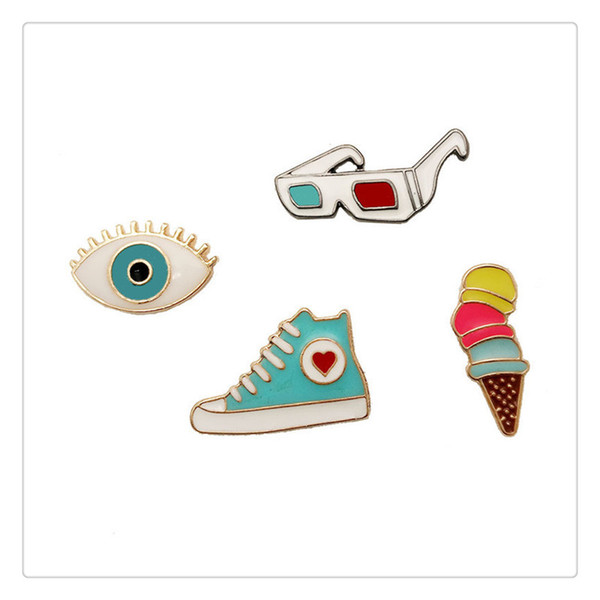 Clothes Trim Cute Badge Alloy Pin Brooch For Clothing Bag Accessories Multi Style Cloth Decoration For Unisex Fashion Supplies Lovely