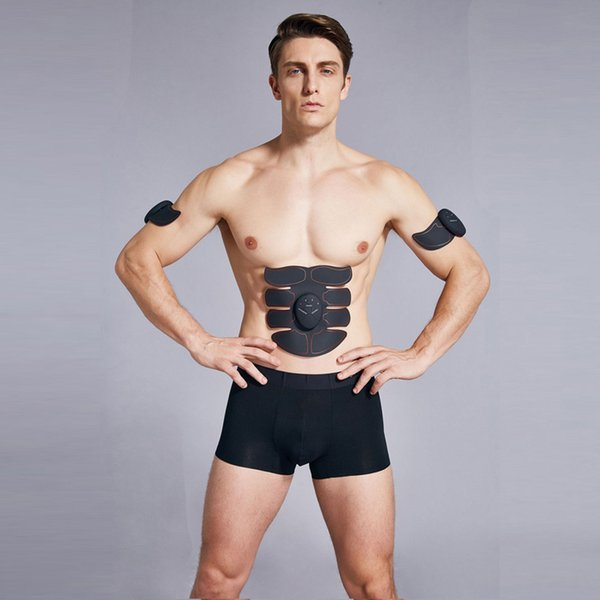 top popular New Smart EMS Muscle Stimulator ABS Abdominal Muscle Toner Body Fitness Shaping Massage Patch Sliming Trainer Exerciser Unisex 2019