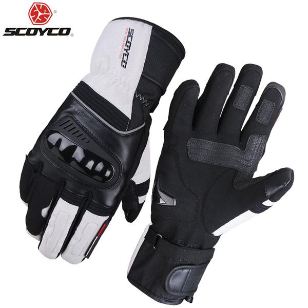 SCOYCO moto Gants d'hiver Gants Nouveau chaud imperméable coupe-vent noir Racing Moto Protector Guante M82