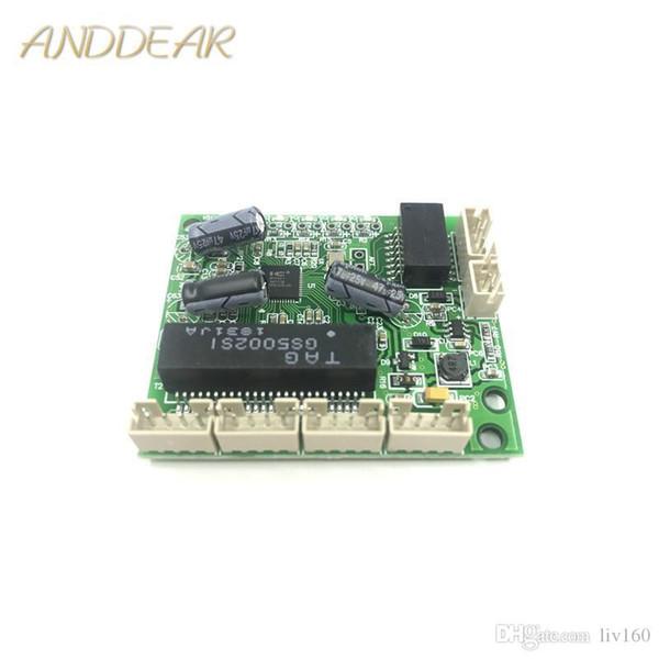 5-портовый 10 / 100Mbps Fast DC3.3V ПОСТУПИВ Board Микропереключатель Модуль Ethernet подключения Box Low Power OEM Материнская плата PoE