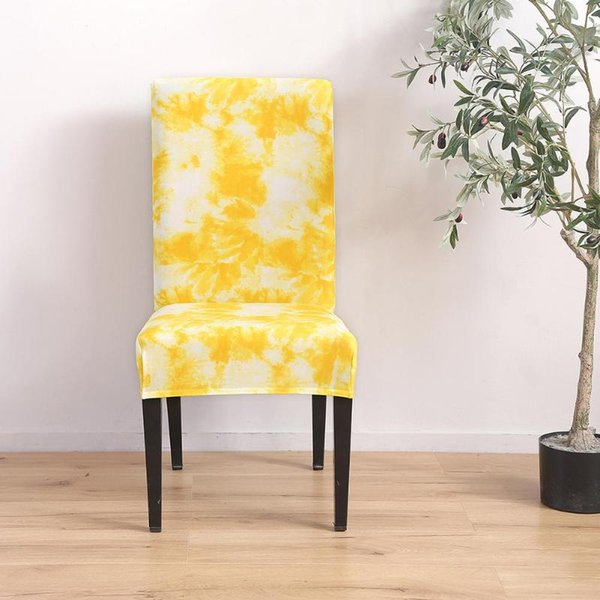 Enjoyable Tie Dye Craft Graffiti Pattern Removable Chair Cover Elastic Slipcover Yellow Sofa Seat Covers Online Chair Sashes Rental From Donaold 40 52 Creativecarmelina Interior Chair Design Creativecarmelinacom