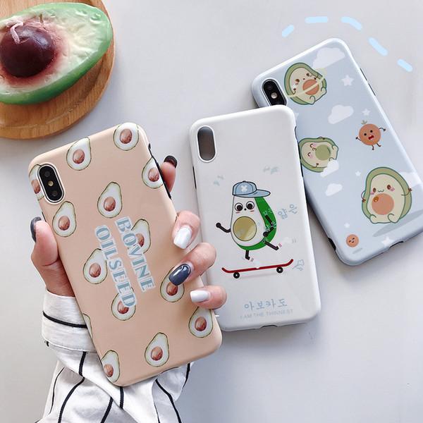 Оптовый Модельер телефон случае для iPhone X XS Max XR 6 6s 7 8 плюс Авокадо стильного телефона задней крышки
