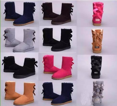 HOT WGG classic Australia winter boots for women chestnut black blue pink coffee designer snow fur boot womens ankle knee boots