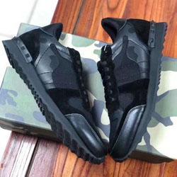 printemps automne nouveaux amants de rivets de camouflage multicolores chaussures chaussures casual mode laçage des chaussures de sport respirant vert 1001010