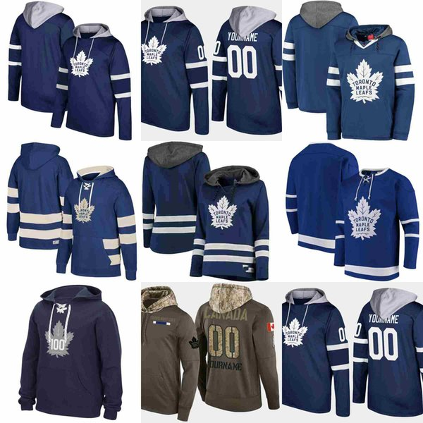 Toronto Maple Leafs Hoodie 91 Tavares Ein Aufnäher 34Auston Matthews Mitchell Marner wird mit einem Pullover aus Jersey von Jersey versehen
