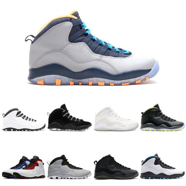 10 Pallacanestro Scarpe 10s Sono tornato freddo grigio fusione a infrarossi rosso veleno Powder Blue uomo sportivo Sneakers