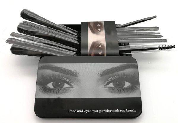 M HB Ana N 12 unids maquillaje pincel de maquillaje en polvo rubor pinceles de maquillaje alta tecnología maquillaje herramientas 12 unids / set envío de la gota