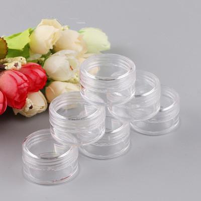 5 g (0,17 oz) Effacer Vider Jars Récipient en plastique Pot 5 grammes cosmétiques Crème Contour des Yeux Ombre ongles 5000pcs Bijoux poudre / lot EEA1054