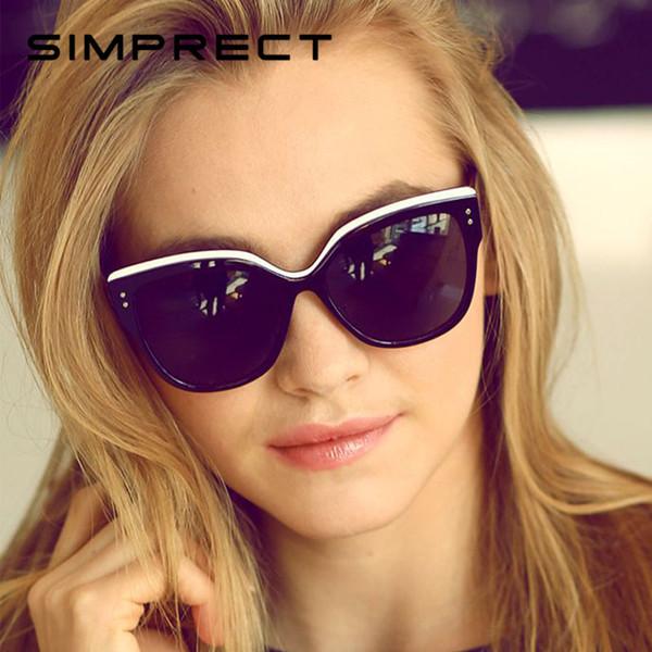 Simprect 2019 Retro Cat Eye Sunglasses Mujeres Espejo Gafas de Sol Moda UV400 Vintage Diseñador de la Marca Lunette De Soleil Femme