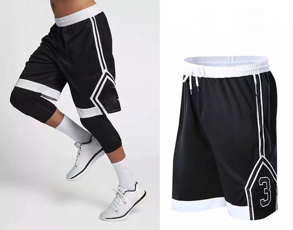 2019 high quality Men Basketball Shorts with zipper Pockets Quick Dry Breathable Training Basketball Shorts Men Fitness Running Sport Shorts