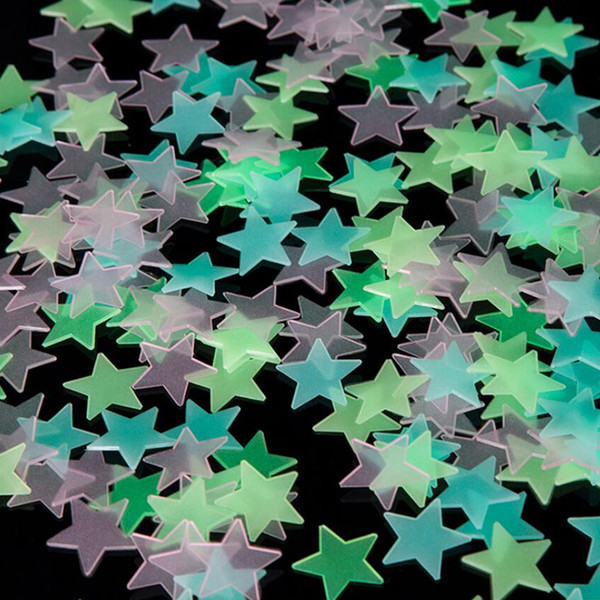 best selling 1000pcs 3D Stars Glow In The Dark Wall Stickers Luminous Fluorescent Wall Stickers For Kids Baby Room Bedroom Ceiling Home Decor