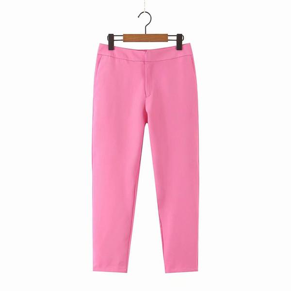 sólo pantalones de color rosa