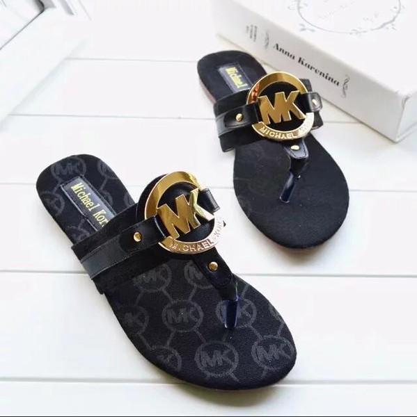2018 новый бренд новый женщин стринги трусы женщин летом пляж сандалии флип известных Fllops большой размер 35-42