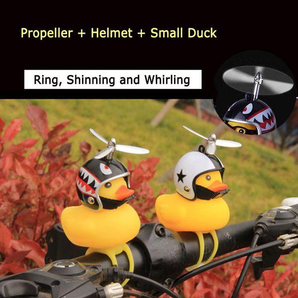 Carino piccolo giallo anatra bamb/ù libellula con casco per moto moto