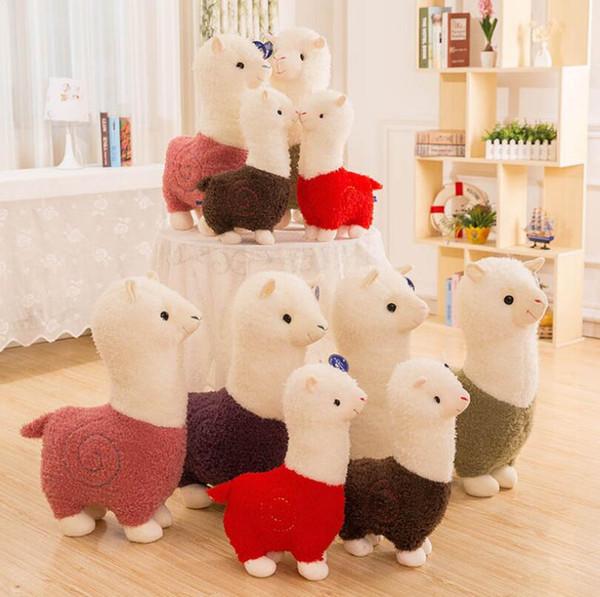 Llama Arpakasso Animal de peluche 28cm / 11 pulgadas Juguetes suaves de peluche de alpaca Kawaii Cute para niños Regalo de Navidad 6 colores
