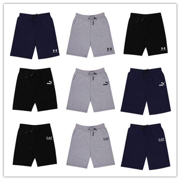 2019 Yeni yaz Marka Yüksek Kaliteli Pamuk Erkekler şort vücut geliştirme Fitness Gasp ter şort Jogging Yapan Rahat Spor Salonları erkek şort