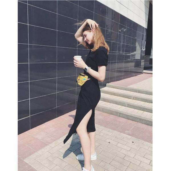 Summer Maxi T Shirt Dress Femmes Vintage Casual Sexy Bodycon Party Wrap Élégant Plage Boho Bandage Noir Robes Longues Plus La Taille