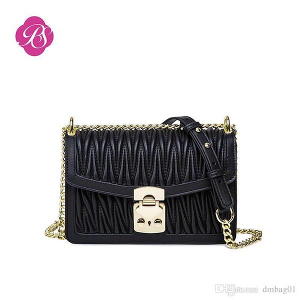 Pink Sugao Designer Luxury Handbags Purse Designer Shoulder Bags Nice Pop Fashion Chain Bags Small Plain Crossbody Bag For Girls 5 Color