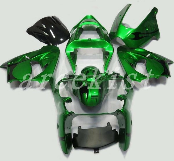 Nuevo kit de carenados de motocicleta ABS aptos para Kawasaki Ninja ZX636 ZX-6R ZX-636 636 6R ZX6R 00 01 02 2000 2001 2002 verde negro