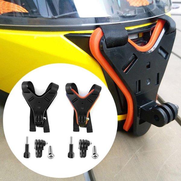 DJI Osmo Eylem Kamera için Motosiklet Kask Çene Sabit Braket Küçük Karınca Aksesuarları Motosiklet Kask Montaj Braketi
