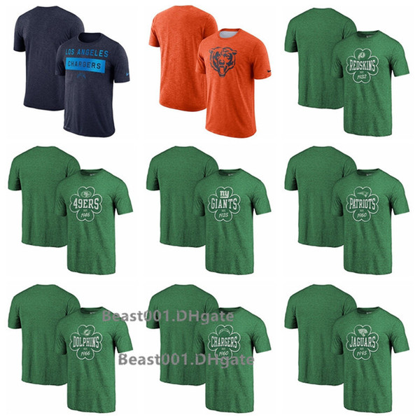 Men Redskins Chargers Bears 49ers Giants Patriots Dolphins Chargers Jaguars ProLineby Fanatics Branded Kelly Green Emerald Isle T-Shirt