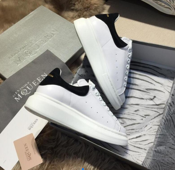 мужчины женщины повседневная обувь мужская мода обувь из натуральной кожи квартиры кроссовок, коробка Доставка, XXLAlexander McQueen