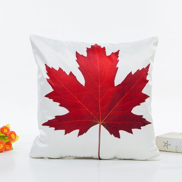 Fine Maple Leaf Dandelion Leaf Vein Sun Flower Cushion Cover Pillow Covers 45X45Cm Decorative Sofa Chair Pillow Case Room Decor 25X25 Outdoor Cushions Machost Co Dining Chair Design Ideas Machostcouk