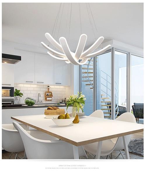 Compre Nordic Contemporáneo Minimalista Acrílico Foyer Cocina Comedor Salón  Luz Mesa Led Moderna Iluminación De Araña Luces Led A $196.99 Del Topmeed  ...