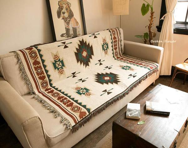 Cobertor Geometic Criativo Sala de estar Sofá Cobertor Ético Estilo Lance Cobertores Ar Condicionado no Sofá Viagem