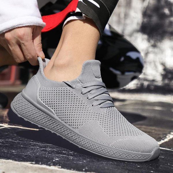 Wholesale summer 2019 new men's fashion breathable shoes casual shoes men's shoes