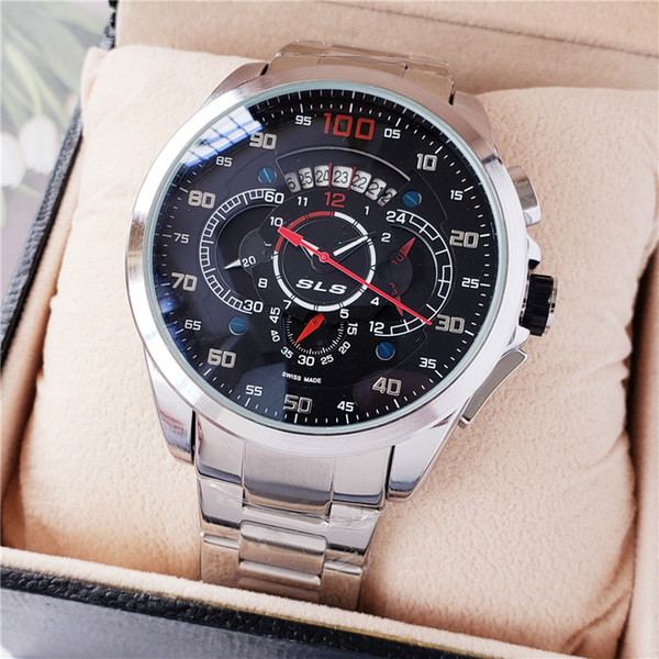 2019 Fashion Mens Tag Grand Carrera Mercedes Benz Sls Formula Quartz Chronograph Wristwatches Calibre 100 Stainless Steel Watches For Men From
