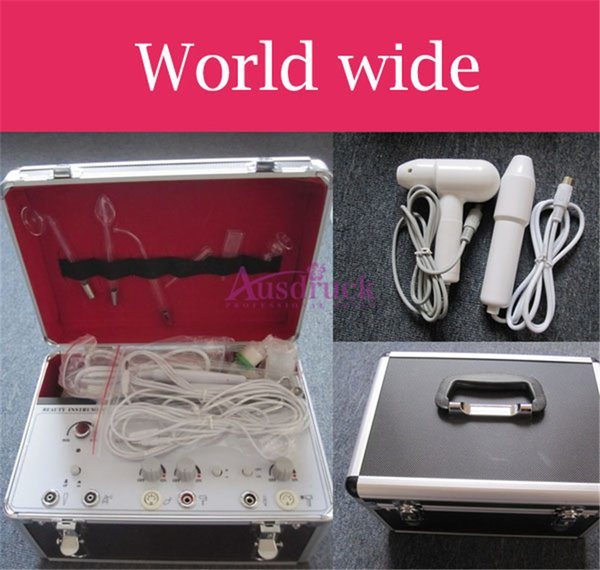 EU tax free New MINI 6 Function Dermabrasion Peeling Vacuum spray Galvanic Face High Frequency Facial skin spots Removal beauty machine