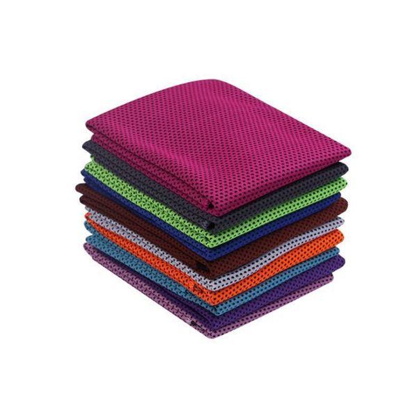 Ice Toalhas instantâneo Toalha de arrefecimento reutilizáveis duplas cores frias Toalhas Quick Dry pano de Fitness Yoga Escalada Exercisewith Retail Bag WZW-YW3186