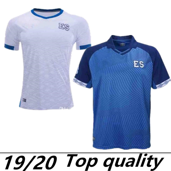 2019 2020 top thailändisch El Salvador zuhause auswärts PJANIC Fußball Trikot 19 20 Federación Salvadoreña de Fútbol schwarz weißes Fußball Trikot angepasst