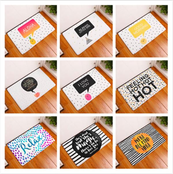Relax Cartoon Coffee Geometric Doormat Bath Kitchen Carpet Decorative Anti-Slip Mats Room Car Floor Bar Rug Door Home Decor Gift