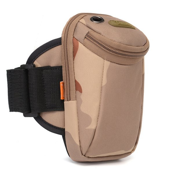Wholesale 5.5inch outdoor running Mobile arm bag camouflage multi-functional wrist bag fitness sports waist bag 8 colors