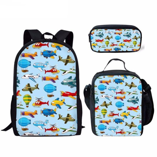 Pop Design Schoolbag Bag pack Children School Backpack Bag 3D Cartoon Cartoon Toy Print Children 2PCS Set Bookbags