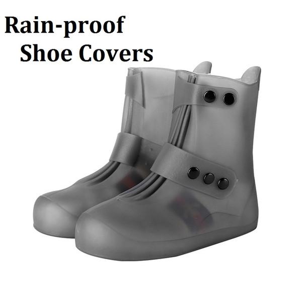 Fabricant vend de haute qualité PVC imperméable chaussures couvre-chaussures en gros multicolore lumière doux chaussures imperméables à la pluie couvre