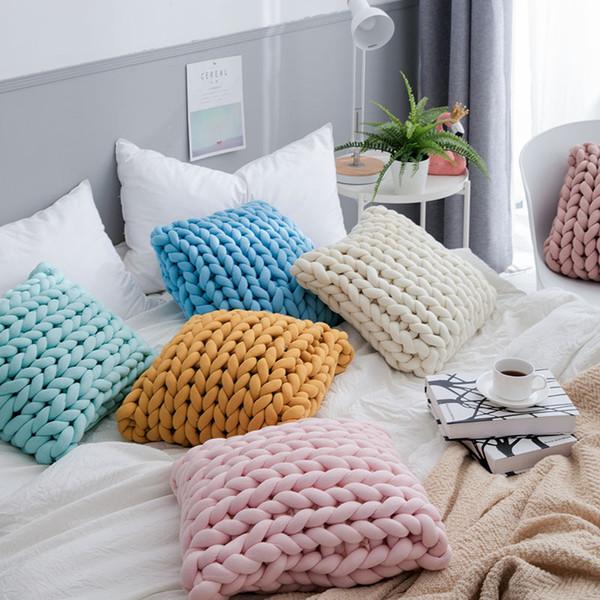 Cojín de almohada hecho a mano de tubo grueso sin costura de algodón de alta calidad Hogar cojín de núcleo suave silla asiento silla almohada