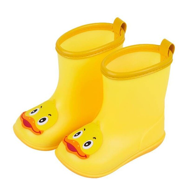 2019 fashion leisure spring summer hot sale Infant Kids Children Baby Cartoon Duck Rubber Waterproof Warm Boots Rain Shoes