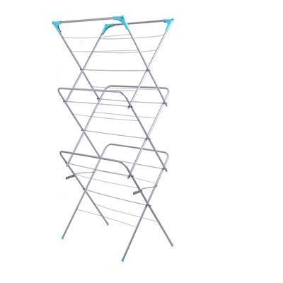 best selling 3-Tier Folding Concertina Clothes Airer Household Essentials Folding Clothes Drying Rack for Hanger Shelf Cloth Towel