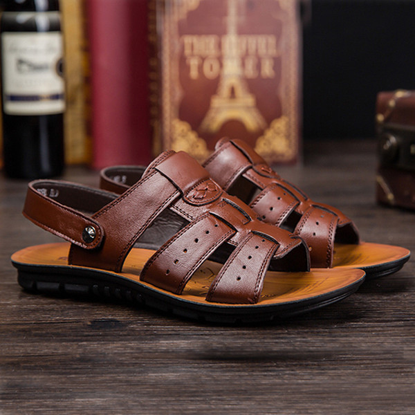 New Arrive Sandals Men Casual Closed Toe Summer Shoe Breathable Fisherman Style Casual Beach Shoe Business Footwear Mar