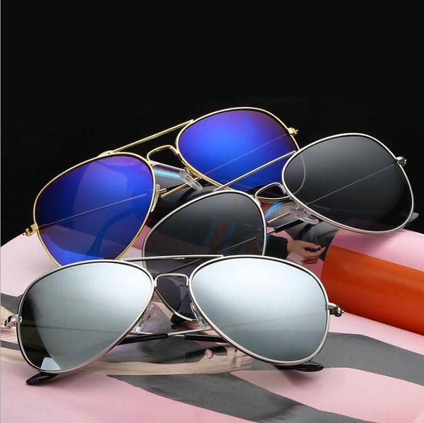 vintage film polarisé objectif pilote lunettes de soleil pour hommes et femmes Bdazzle couleur miroirs lunettes cadre lunettes de soleil MMA1644 360pcs