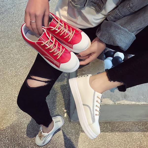 Chaussure blanche respirante femme 2019 new age saison han édition chaussures de toile joker chaussures plates étudiants