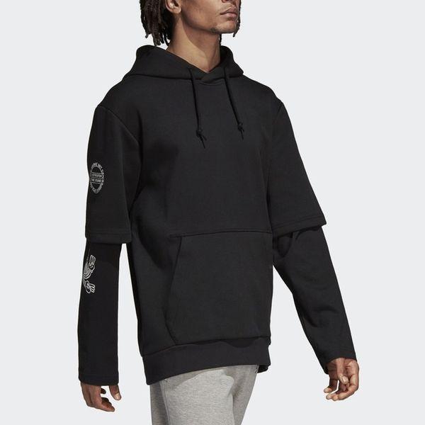 Erkek Kadın Kazak Marka Hoodies Kazak Dış Giyim Ceketler Yanlış 2 Parça Hiphop Streetwear Designe Uzun Kollu Spor Hiphop B100006L