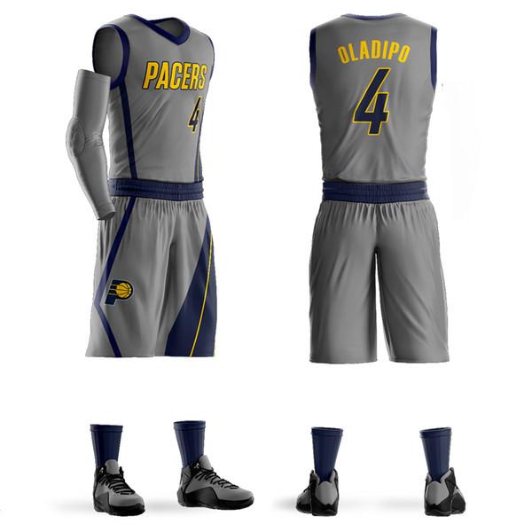 Hombres Juventud Victor Oladipo Baloncesto Jersey Sets Conjuntos de uniformes Adultos Camisas deportivas ropa transpirable camisetas de baloncesto cortos DIY Personalizado