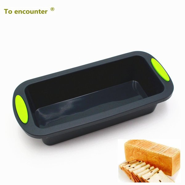 To Encounter 28*12.5*6.3cm Square Quadrate Shape 3d Silicone Cake Mold Bread&loaf Pans Diy Baking Tools Several Baking Pan Sets J190723